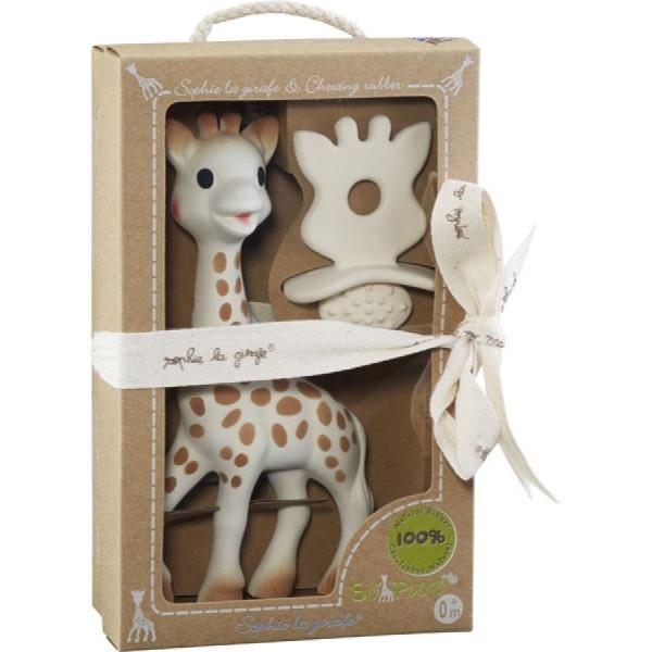 3 Sprouts Sophie la girafe + 1 Schnuller/Zahnungshilfe SO'PURE