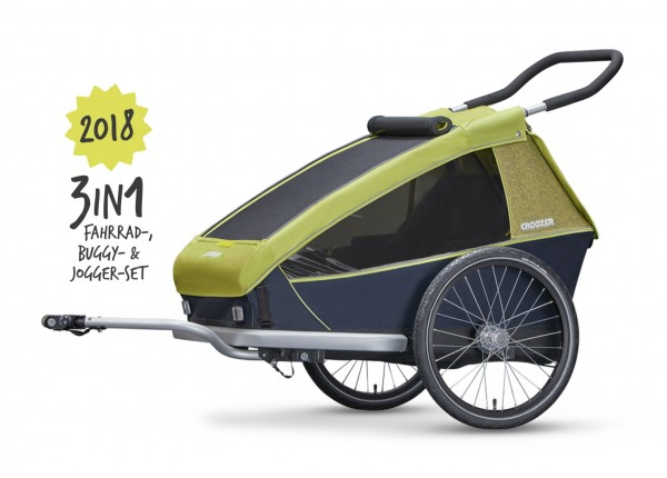 Croozer Kid for 2 Fahrradanhänger Model 2018 Lemon green