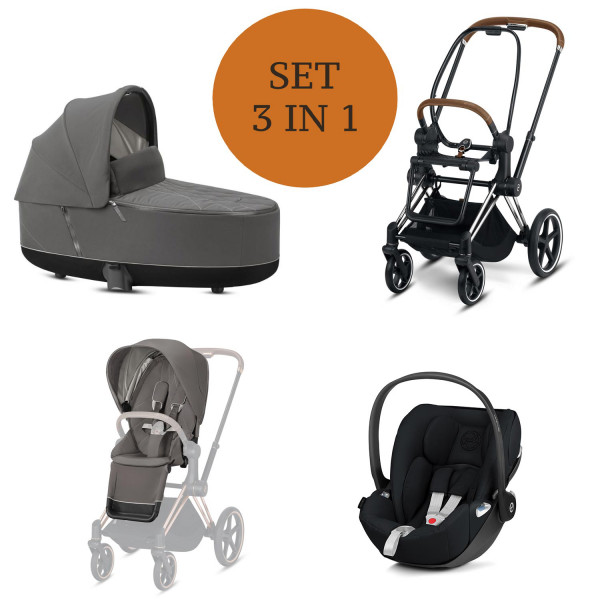 Cybex Priam Kinderwagen Set 3 in 1 inkl. Babyschale