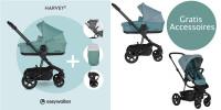 Easywalker Harvey 2 Kombikinderwagen + Gratis Fußsack, Regenschutz & Becherhalter
