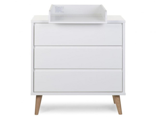 Childhome Retro Rio White with 3 drawers + changing top