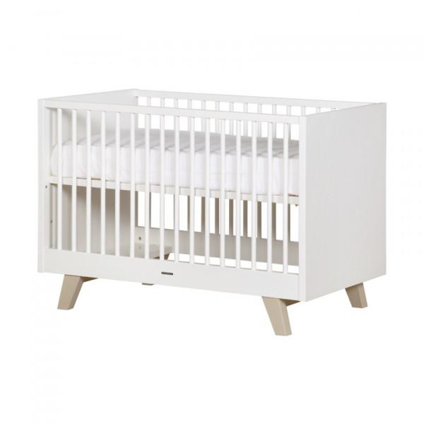Kidsmill Fynn Weiß Natur Bett 60x120 Gitterstäbe Weiß