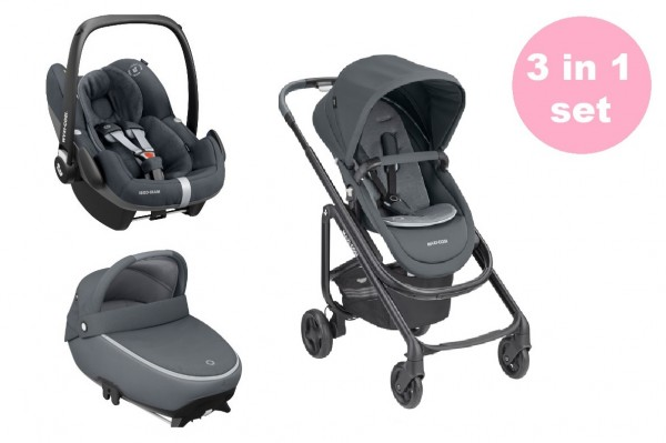 Maxi Cosi Lila SP Kinderwagen Premium Set 3 in 1 (Jade Babywanne & Pebble Pro Babyschale)