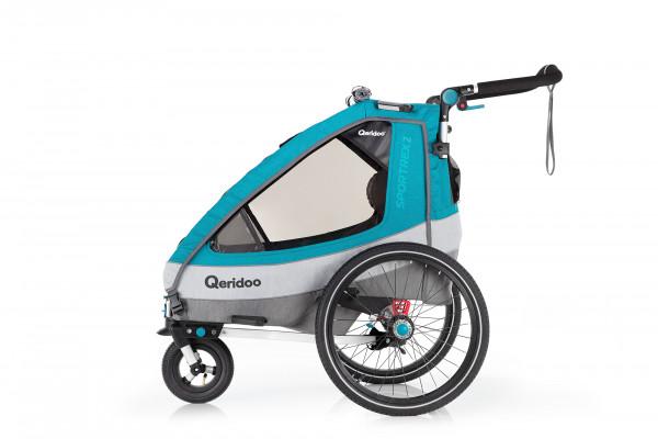 Qeridoo Sportrex2 Fahrradanhänger Modell 2020 Petrol