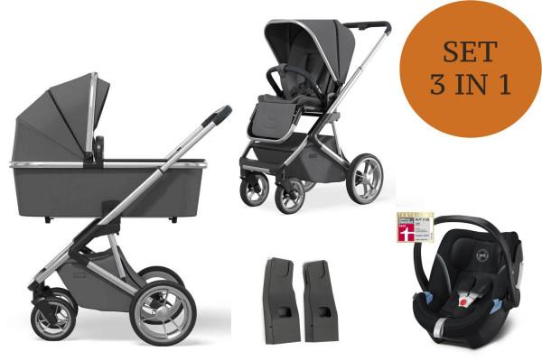 Moon Style Kinderwagen Set 3 in 1 inkl. Babyschale Modell 2021