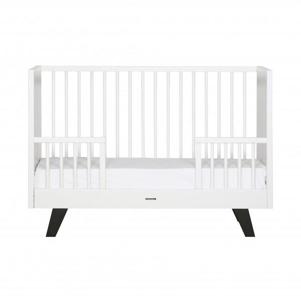Kidsmill Fynn Weiß Schwarz Bett 60x120
