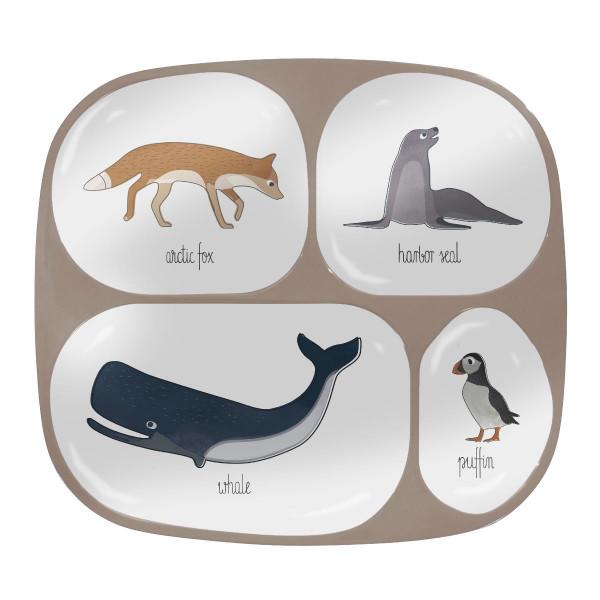 Sebra Kindergeschirr Melamin, Arctic Animals