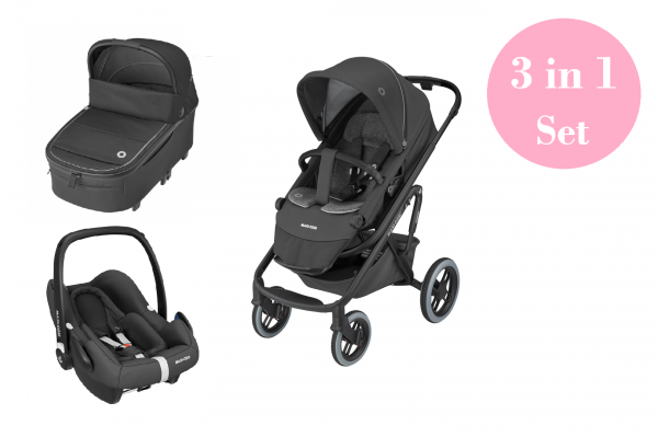 Maxi Cosi Lila XP Kinderwagen Set 3 in 1 (Oria XXL Babywanne & Rock Babyschale)