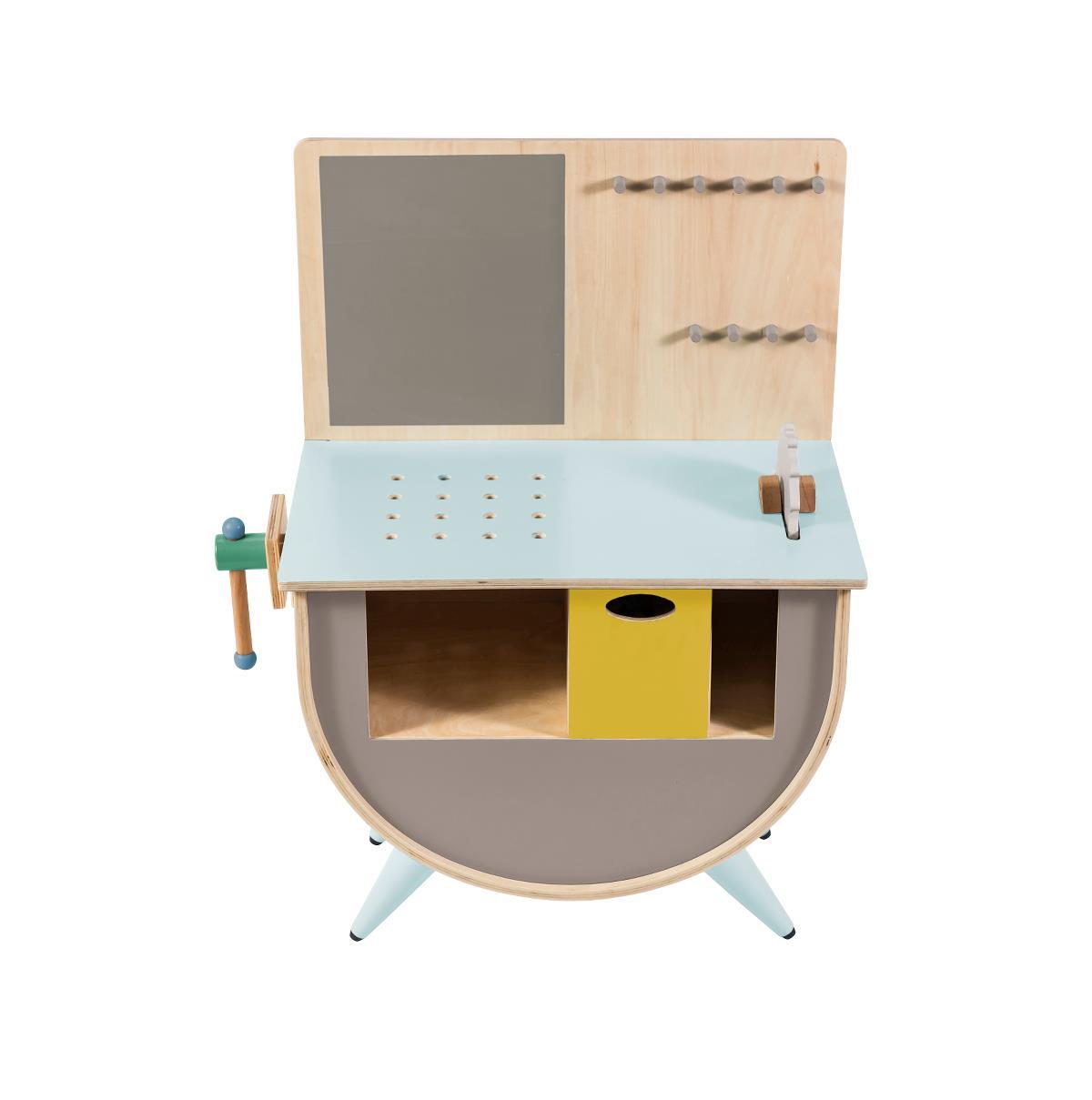 Sebra Spielzeug Werkbank Warmes Grau Kindermaxx