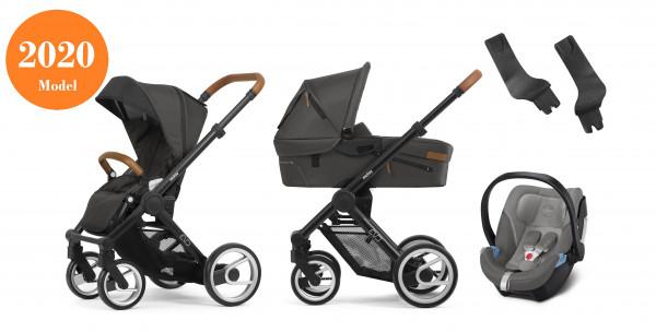 Mutsy Evo Kinderwagen Set 3 in 1 2020 (mit Cognac Griff)