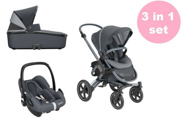 Maxi Cosi Nova 4 Kinderwagen Set 3 in 1 (Oria Babywanne & Rock Babyschale)
