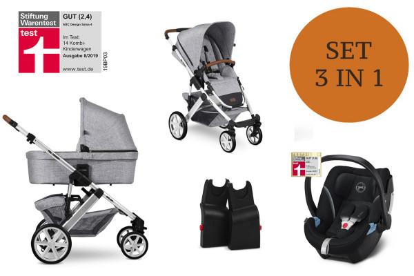 ABC Design Salsa 4 Kinderwagen Set 3 in 1 inkl. Babyschale Modell 2021