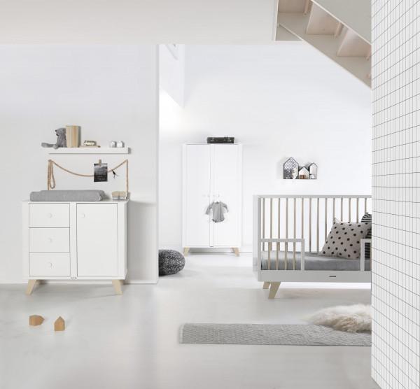 Kidsmill Fynn Weiß Natur Sparset Gitterstäbe Natur