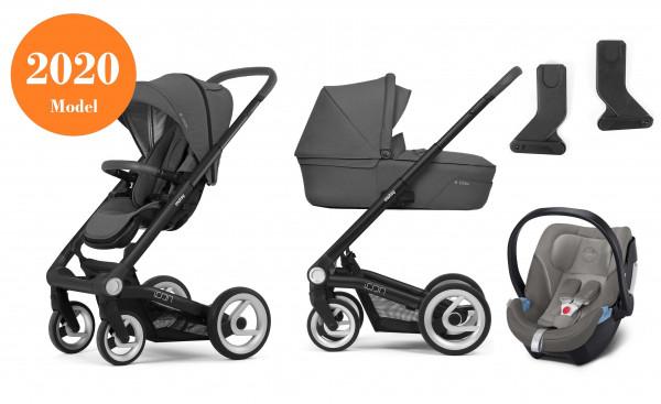 Mutsy Icon Kinderwagen Set 3 in 1 2020 (mit Grau Griff)