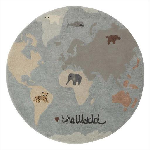 OYOY Kinderteppich World, Bunt 120 cm