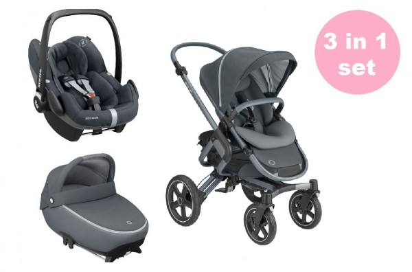 Maxi Cosi Nova 4 Kinderwagen Premium Set 3 in 1 (Jade Babywanne & Pebble Pro Babyschale)