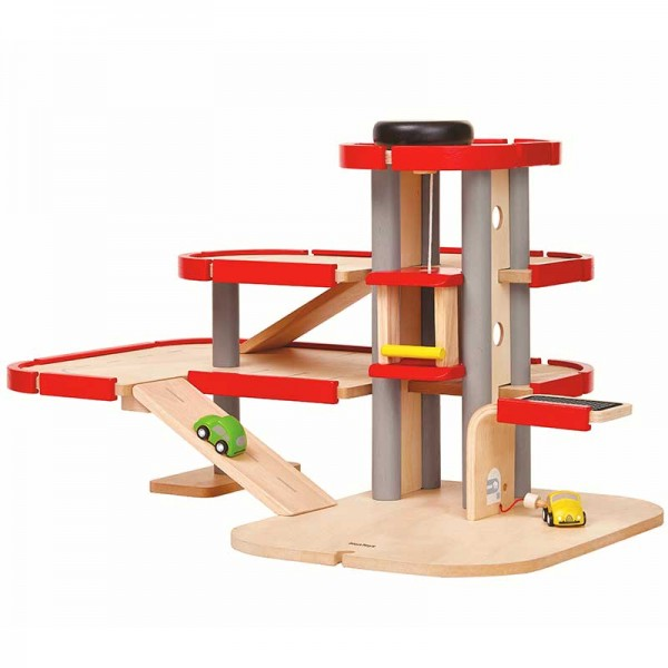 PlanToys Parkhaus Spielzeug aus Holz