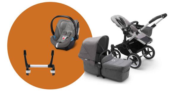 Bugaboo Donkey3 Mono Kinderwagen Set 3 in 1 incl. Babyschale