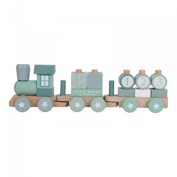 Little Dutch Holz Eisenbahn mit Bauklötzen